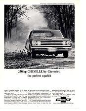 1965 CHEVROLET CHEVELLE 327/350 HP ~ ORIGINAL PRINT AD