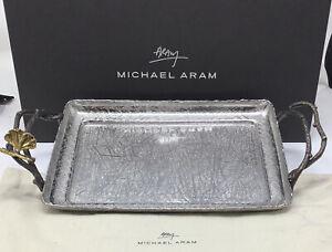 Michael Aram Butterfly Ginkgo Tray Cloth & Original Box Retail $150+