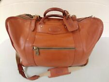 Vintage Tumi Dakota Tan Leather Duffel Bag