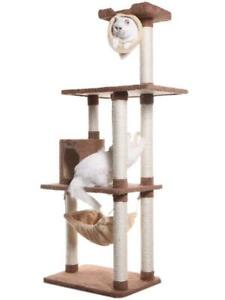 Premium Multi-Level Cat Tree with Hammock, Playhouse, Tunnel and Swing Armarkat