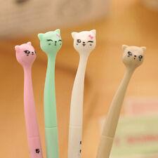 1pcs Cute Cat Gel Pens Girls Office School Supplies Delicate Solid Stationeries
