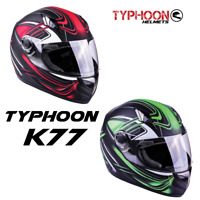 Adult Full Face Motorcycle Helmet DOT Matte Finish Red Green