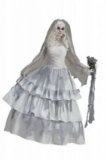 Womens Deluxe Victorian Ghost Bride Costume Spooky Adult Size Standard