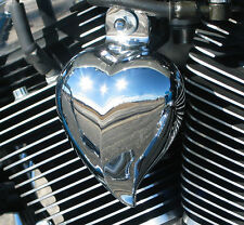 CHROME HEART SHAPED HORN COVER.  HRT-C DYNA, SPORTSTER, SOFTAIL. VROD