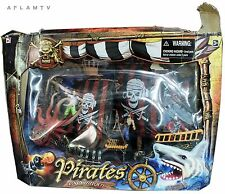 Chap Mei Pirates Expedition Playset Action Figure Ship Octopus