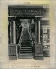 1957 Press Photo Escalator Paris Exhibition Gimbel Bros - RRU58817