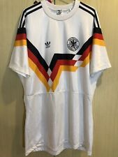 GERMANY WORLD CUP 1990 ADIDAS FOOTBALL SOCCER JERSEY SHIRT VINTAGE L TRIKOT