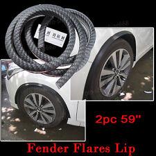 Universal Carbon Fiber Wheel Eyebrow Protector Lip Fender Flare Guard Trim Car