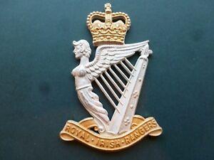 Royal Irish Rangers piper badge in silver plate & gilt