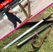 Samurai Battle Straight Knife Saber Sharp Spring Steel Ninja Dao Sword Katana