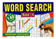 A5 Word Search Case Bound Activity Books Kids Adults Fun Puzzle Challenge Pad