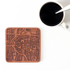 Denver map coaster One piece wooden coaster Multiple city Ideal Gifts