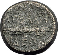 APOLLONIS in LYDIA Authentic Ancient Greek Coin HERCULES Thunderbolt i63679