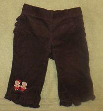 EUC Gymboree Gingerbread Girl Brown Corduroy Pants Size 3-6 3 6 Months