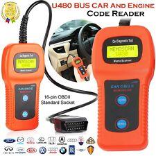 Car Diagnostic Scanner Tool CAN OBDII U480 OBD2 Memo Engine Fault Code Reader