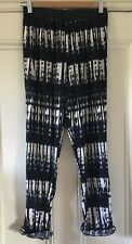Tammy Girls' Navy Blue White Tie-Dye Style Loose-Fit Trousers 12 Years 152cm VGC