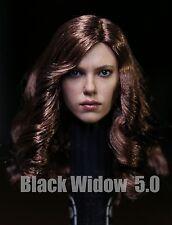 █ Custom Black Widow 5.0 1/6 Head Sculpt for Hot Toys Phicen Kumik Female Body
