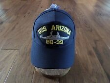 USS ARIZONA BB-39 NAVY SHIP HAT OFFICIAL U.S MILITARY BALL CAP U.S.A MADE