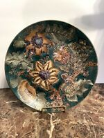 Toyo Trading Co Decorative Collector Plates -Turquoise/Copper/Gold  EUC.
