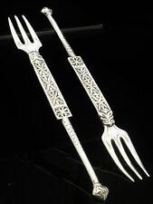 Paire de Iona Silver couvent Forks, Celtic art industries