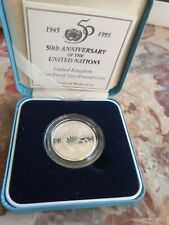 More details for 1995 uk 50th anniversary of un silver proof £2 coin