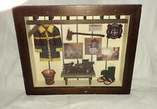 "Seymour Mann Handcrafted Firefighter Shadow Box. 13.5""x11""x2"" Pre-owned"