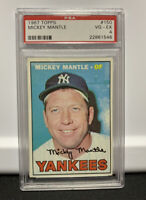 1967 Topps #150 Mickey Mantle New York Yankees PSA 4; Mickey Mantle, Centered!!!