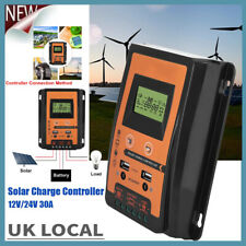 30A LCD Display MPPT Solar Panel Battery Regulator Charge Controller Dual USB