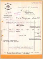 """CHATEAU de MAREUIL-sur-AY (51) CHAMPAGNE """"MONTEBELLO"""" en 1960"""