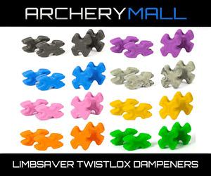 Limbsaver Twistlox Split Limb Compound Bow Vibration Dampener 4-Pack - COLORS