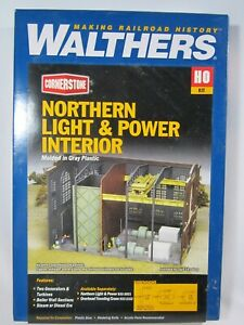 HO scale Walthers Cornerstone 933-3130  NORTHERN LIGHT & POWER INTERIOR   kit