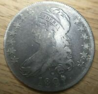 1807 Capped Bust Half Dollar 50/20 O-112 Late Die State Fine F almost Very Fine