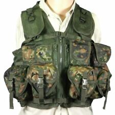 MilTec Flecktarn Camo Tactical Combat Assault Vest Airsoft Paintball