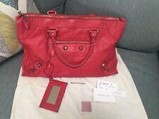 Authentic BALENCIAGA Giant City Bag RED Handbag