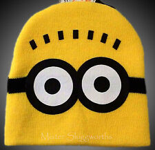 NEW Universal Despicable Me Yellow MINION KIDS Knit Hat Beanie Skull Cap BNWT