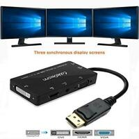 CABLEDECONN 4-in-1 Multi-Function Displayport to Hdmi/Dvi/Vga Adapter Cable with