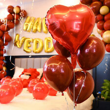 5pcs 12 inch Red Latex Thickening Wedding  Bachelorette Party Birthday Balloons