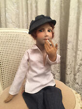 ANTIQUE FRENCH BOUDOIR SMOKING MAN DOLL/POUPEE DE SALON/GAVROCHE/ART DECO