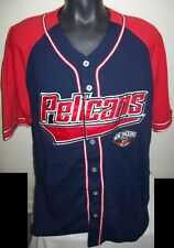 NEW ORLEANS PELICANS Starter Baseball Jersey BLUE & RED w sewn Logos  M, XL, 6X