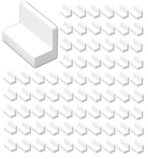 ☀️Lego 100x WHITE Panel 1 x 2 x 1 with Rounded Corners #4865b