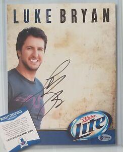 LUKE BRYAN SIGNED PHOTO BECKETT BAS COA AUTOGRAPHED COUNTRY MUSIC SINGER AUTO