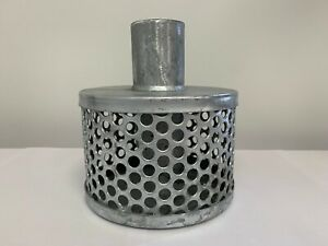 Suction Hose Strainer, Tin Can x Hose Tail  Hot-Dip Galvanised  WILL NOT RUST