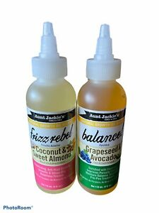 Aunt Jackie's FRIZZ REBEL + BALANCE Growth Oil Lot of 2 NEW