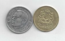 2 DIFFERENT COINS from MOROCCO - 20 SANTIMAT & 1 DIRHAM (BOTH DATING 2002)
