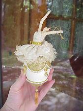 Ballerina REAL Goose Egg Christmas Tree/Birthday Gift Ornament Pearls Dance Ooak