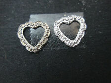 2 Dollhouse Miniature Unfinished Metal Small Heart Frame