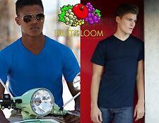 STOCK pezzi 3 FRUIT OF THE LOOM maglietta t-shirt COLLO A V in 7 colori a SCELTA