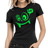 Buh Monster Fun Comic Neon Grün Green Cute Comedy Spaß Lady Damen Girlie T-Shirt