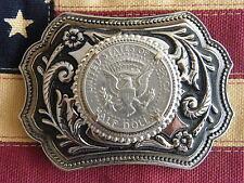 NEW BELT BUCKLE AMERICAN USA HALF DOLLAR COIN SILVER METAL WESTERN,COWBOY