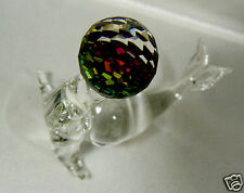 Austrian 32% Full Lead Crystal Forest Collector's Circus Seal w Ball Figurine